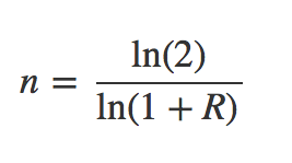 Fórmula interés compuesto para duplicar capital