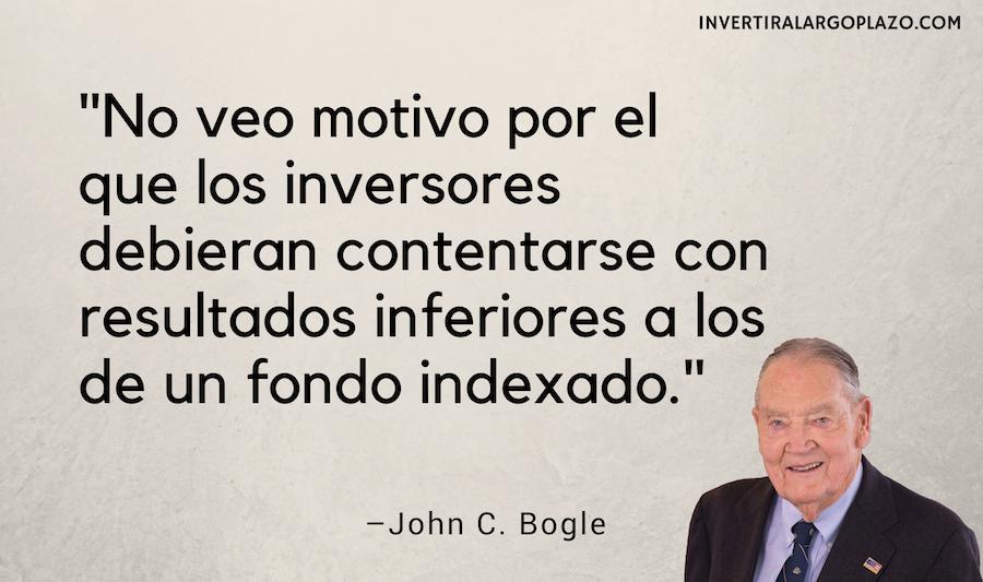 John C Bogle: No veo motivo por el que los inversores debieran contentarse con resultados inferiores a los de un fondo indexado