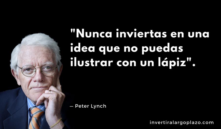 Peter Lynch: Nunca inviertas en una idea que no puedas ilustrar con un lápiz